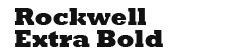 Rockwell Extra Bold
